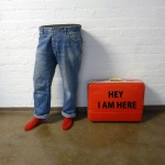 'Hey I am here' mixed media, sound 2013